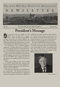 Cover image of JWHA newsletter