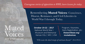 """""""Muted Voices"""" event banner"""