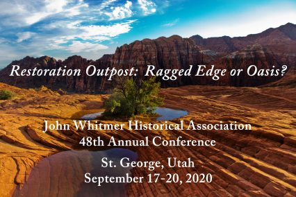 photo of Utah landscape with conference text
